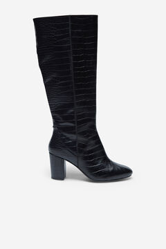 Cortefiel Crocodile effect boots Black