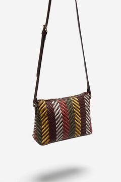 Cortefiel Woven crossbody bag Natural