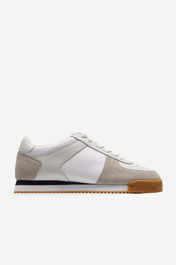 741dd30a72 Cortefiel Sneaker nylon piel suela goma Blanco