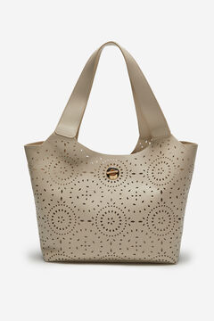 Cortefiel Cutwork shopper bag White