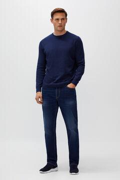 Cortefiel Classic dark wash jeans Royal blue