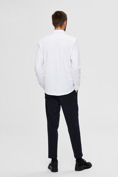 Cortefiel Sustainable plain shirt White
