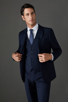 Cortefiel Navy blue slim fit suit jacket Navy