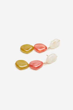 Cortefiel Resin stones earrings Natural