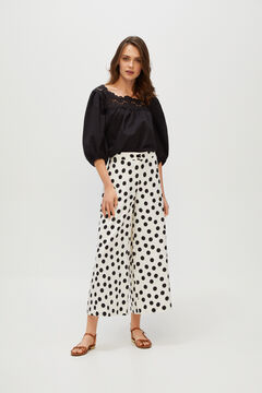 Cortefiel Cropped trousers Natural