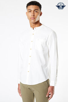 Cortefiel Dockers® COTTON HEMP BAND COLLAR SHIRT White