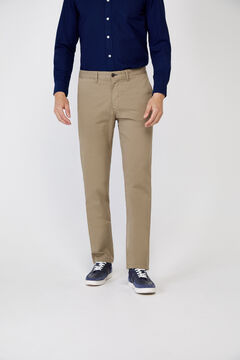 Cortefiel Essential classic fit lightweight chinos Pink