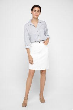 Cortefiel Falda recta Blanco