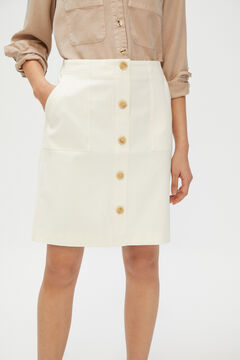 Cortefiel Short piqué skirt White