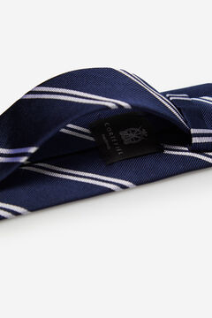 Cortefiel Striped tie Navy
