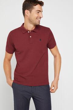 Cortefiel Essential short-sleeved polo shirt Fuchsia
