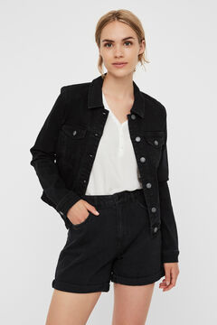 Cortefiel Organic cotton denim jacket Black