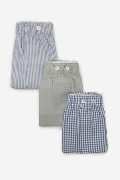 Cortefiel Pack 3 boxers de tela Gris
