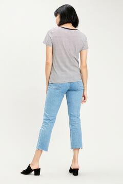 Cortefiel Classic Levi's® logo cotton t-shirt Dark gray