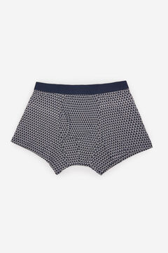 Cortefiel Printed jersey-knit boxers Navy
