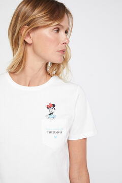 Cortefiel Disney weekdays t-shirt Ecru