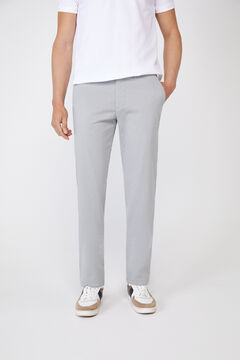 Cortefiel Essential classic fit lightweight chinos Gray