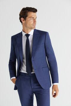 Cortefiel Blue slim fit stain resistant blazer Blue
