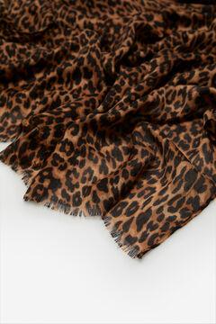 Cortefiel Fular estampado leopardo Varios