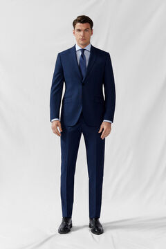 Cortefiel Slim fit blue false plain blazer Navy