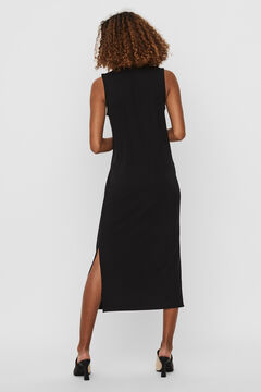 Cortefiel Long sleeveless dress  Black