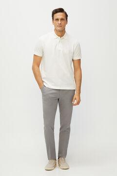 Cortefiel Essential slim fit organic cotton chinos Gray