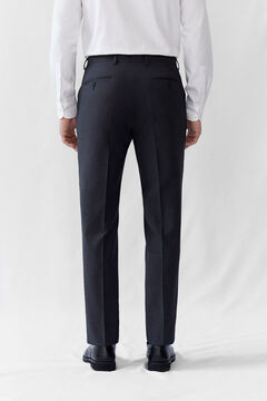 Cortefiel Grey tailored fit COOLMAX® trousers Dark gray