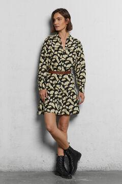 Cortefiel Sustainable fabric shirt dress Black