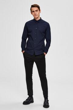 Cortefiel Slim fit shirt Navy