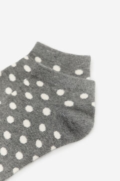 Cortefiel Spotty ankle socks Dark gray