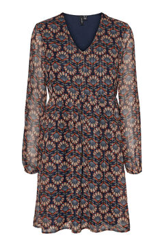 Cortefiel Mosaic mini dress Navy