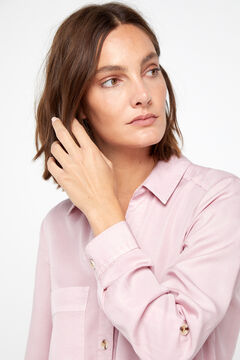 Cortefiel Lyocell cargo shirt Pink