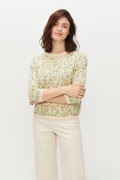 Cortefiel Floral print jumper Green