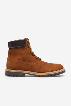 Cortefiel Rubber sole boot Camel