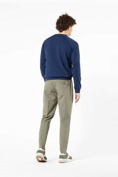 Cortefiel Basic logo Dockers® sweatshirt Turquoise