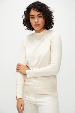 Cortefiel Eco-friendly yarn jumper Ecru