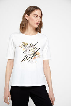 Cortefiel Camiseta algodón orgánico Blanco
