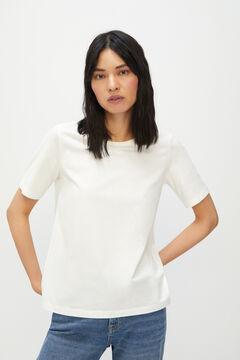 Cortefiel Essential crew neck t-shirt White