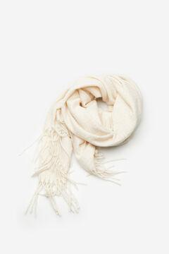 Cortefiel Jacquard scarf Ecru