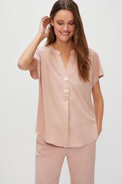 Cortefiel Comfort blouse Pink