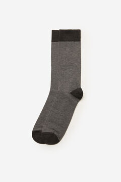 Cortefiel Fine striped socks Dark gray