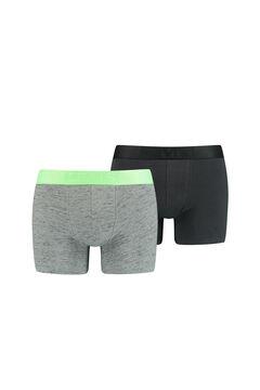 Cortefiel Pack 2 bóxers Levi's® punto flameado y fluorescente Verde