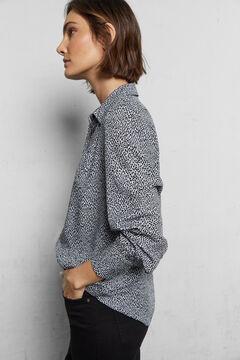 Cortefiel Camisa tecido sustentável Cinzento