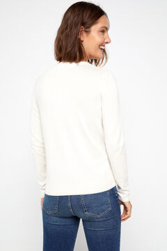 Cortefiel Lurex trim jacket White
