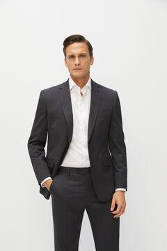 Cortefiel Tailored fit Coolmax® blazer Dark gray