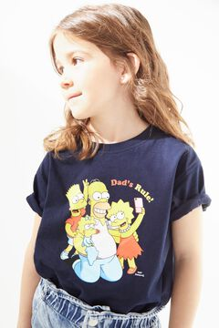 Cortefiel The Simpsons short-sleeved t-shirt Turquoise