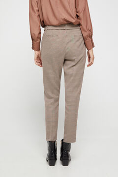 Cortefiel Trousers with belt Kaki