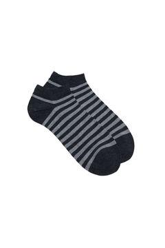 Cortefiel Plain ankle socks with Coolmax® Black