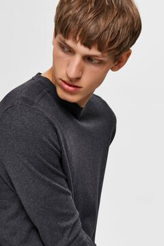 Cortefiel Classic organic cotton jumper  Dark gray