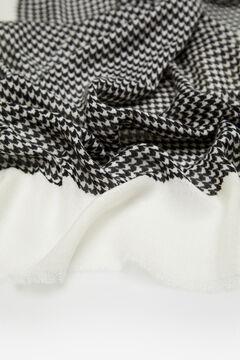Cortefiel Houndstooth scarf Black